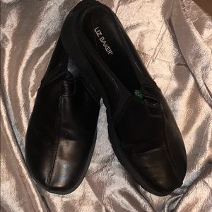 Liz Baker Black Leather Clog, Size 10